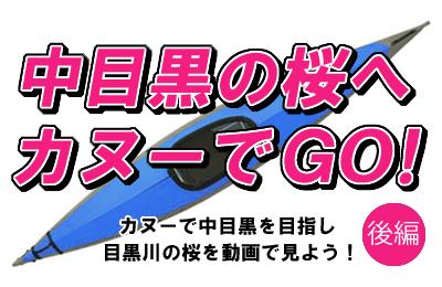 「中目黒の桜へカヌーでGO!」<後編> 目黒川をカヌーでスイ~っとしながら桜を動画で紹介したい、という企画は成功したのか?